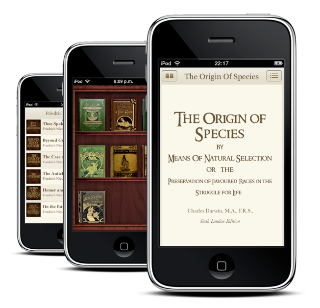 Classics - iphone book reader